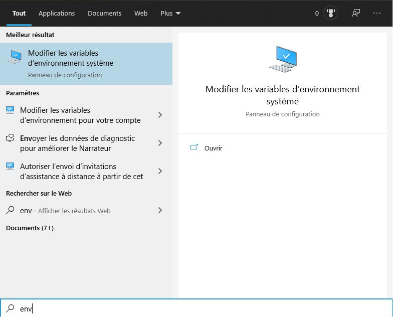 Windows Envi Search